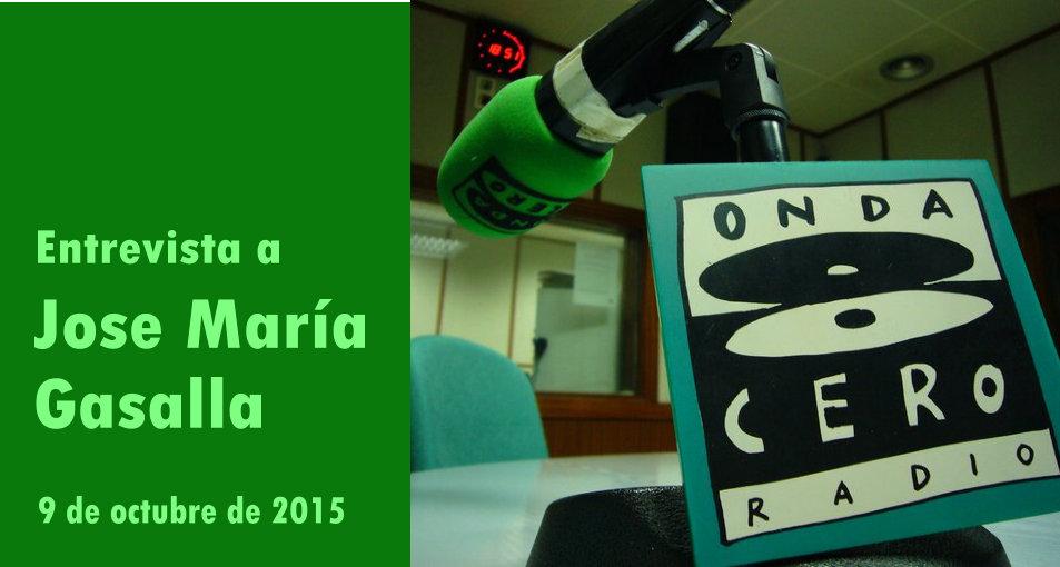 2015-10-19-Entrevista Onda Cero a Jose Maria Gasalla