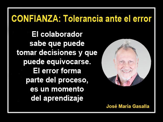 Tolerancia ante el error | José María Gasalla