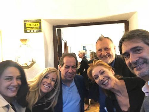 Carmen,Margarita,Juan Carlos,Teresa y Jesus en la presentación del último libro de la maravillosa Yolanda Sáenz de Tejada
