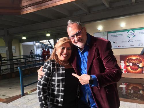 Con Gladys Paiva en el esarh