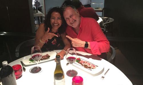 Con Cecilia Trujillo