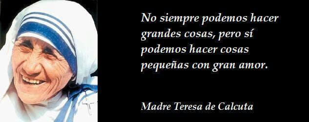 Frase Teresa de Calcuta