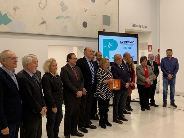 Jose Mª Tomás presidiendo los Premios Anuales de la Fundación por la Justicia en Valencia