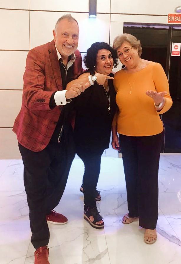Con Cristina Arozamena y Maite