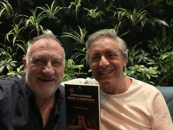 Con Santiago Vazquez en Ciudad de México