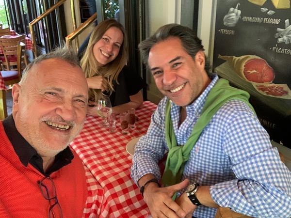Con Sira y Lalo Barcarcel en Ciudad de México