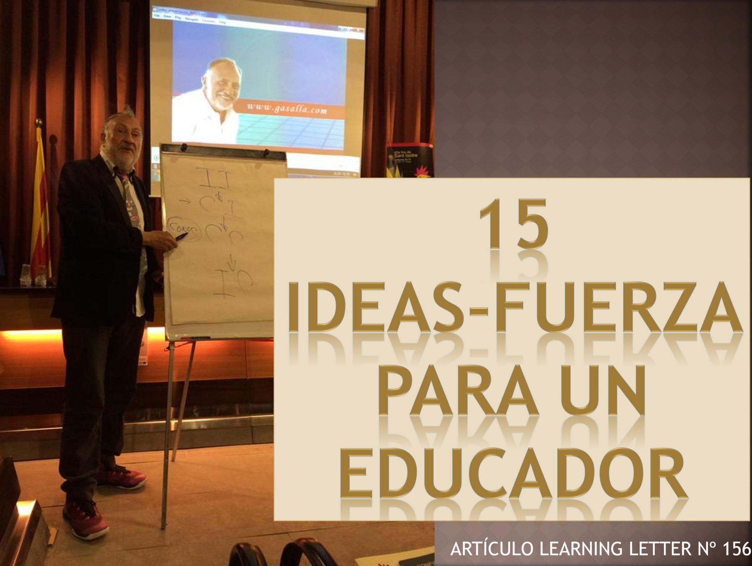 Educar para crear un espacio confiable. Learning Letter 156